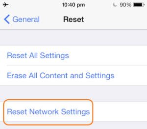 Netzwerkeinstellungen bei WLAN Problemen unter iOS 10 zurücksetzen