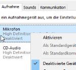 Headset unter Windows 10 aktivieren