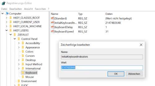 Num Lock Dauerhaft Aktivieren Windows 10
