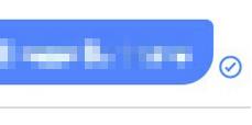 Facebook Messenger Symbole Bedeutung: Blauer Kreis mit Haken