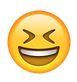 lachender smiley kneift die augen zu - whatsapp smileys bedeutung
