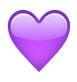 lila herz - whatsapp smileys bedeutung