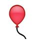 Roter Luftballon Smiley