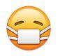smiley mit weisser maske - whatsapp smileys bedeutung