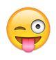 smiley streckt zunge raus und zwinkert - whatsapp smileys bedeutung