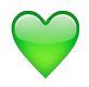 Emoji Grünes Herz